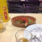 Crabs and beer at Escritório restaurante, Recife, Brazil.