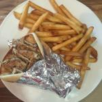 Chicken Gyro with fries and Original Gyro with Greek rice!