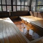 休憩室奥の足湯