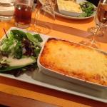 lasagnes et salades, un régale