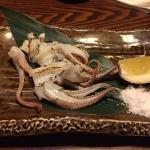 活いかのゲソは塩焼きか天ぷらにしてくれる