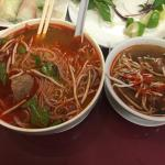 Pho with everything but tripe and a side of oxtail soup