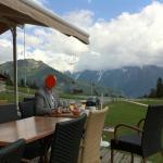 Towards Mont Blanc (hidden in cloud). Aiguillette des Houches to the left