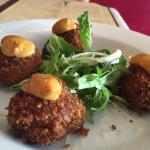 really tasty artichoke fritters