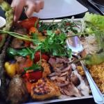 sharing mixed grill for 2