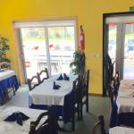 Sala de jantar com vista para esplanada