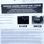 Parking charge!