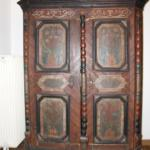 Amazing old peasant furniture (Bauernschrank), symptomatic of the deco all over the place.