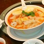 The delicious Singapore laksa