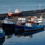 Evening sun at Seahouses harbour