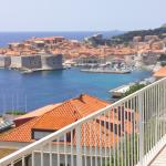 Old town of Dubrovnik view from Sipa apartments