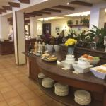 Just part of the large, fresh, breakfast buffet