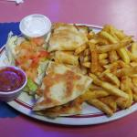 This is the chicken quesadilla.