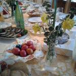 Traditional Romanian Easter dinner