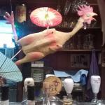 Random plastic chicken adorns the bar October 2015