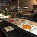Variety of sushi types
