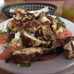 One of my favorite meals Greek Salad w/chicken!! Delicious!!!