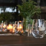 Fine food and dining in outdoor setting