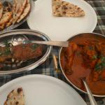 Tabak Maaz and Chicken Curry