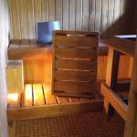 Private sauna in cabin