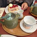 Tea and Strawberry Gateau