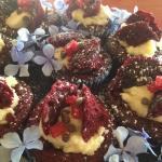 Butterfly red velvet cupcakes