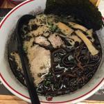 """Tonkotsu soup mixed with special roast garlic oil."""