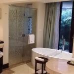 bathroom with outdoor zen garden