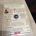 Sandwich mini gaulois tarte au poire et carte des cafés