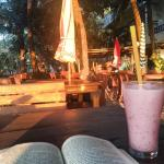 Refreshing smoothie at Tonys after spending a long morning at the beach
