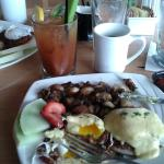 Bloody Mary and Crows Nest Benedict (on Corned Beef Hash). We'll be back for breakfast again!