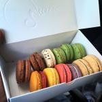 Macarons... all good - except the stale macarons pistache.