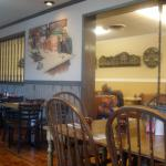 Murals on the walls at Moore's Family Restaurant
