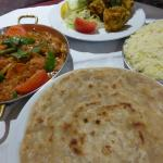 chilli garlic chicken with paratha