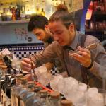 Carefully concocting cocktails at XiXi Bar