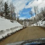 the dirt/mud road to the hot springs