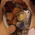 Seafood platter ( Trout, crab, shrimp )