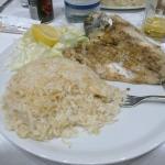 Eccellente riso e  pesce!