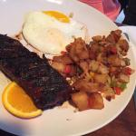 Steak and eggs-