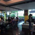 Nice spacious & clean room. Cafe was busy, full of  guests and food was really nice.