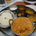 Shrimp Tikka Masala Thali Style...