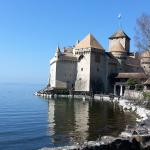 Just a shrt stroll along the lake takes you to Chateau de Chillon