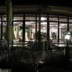 Restaurant von der Terasse aus