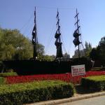 A model of a historic ship.