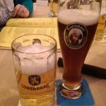 The local brews, Lowenbrau and Franziskaner