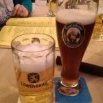 The local brews, Lowenbrau and Franziskaner