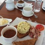 Breakfast by the poolside