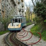 Tram with funicular