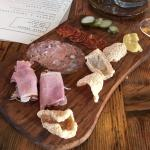 Selection of Cured Meats, small serving for $14
