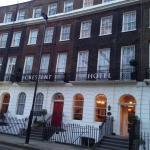 The hotel from Cartwright Gardens